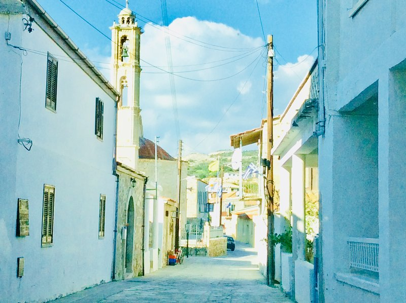 Campanella of St George. Dalla's Cyprus Retreat, Maroni village, Larnaca district, Cyprus.