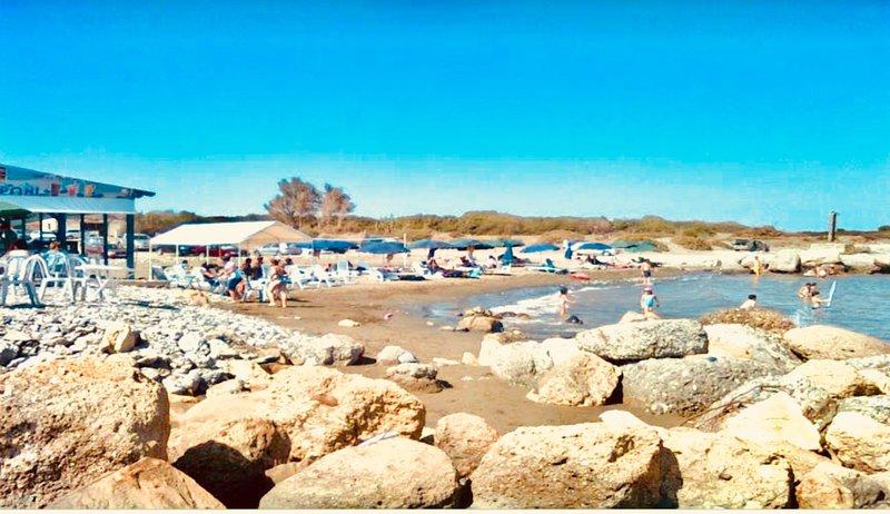 Maroni beach. Dalla's Cyprus Retreat, Maroni Village, Larnaca district, Cyprus.
