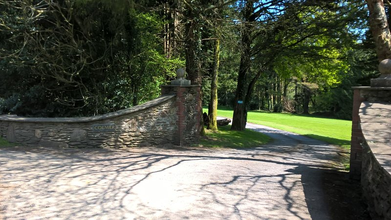 The entrance to the Colmer Estate and Waterfall Cottage.