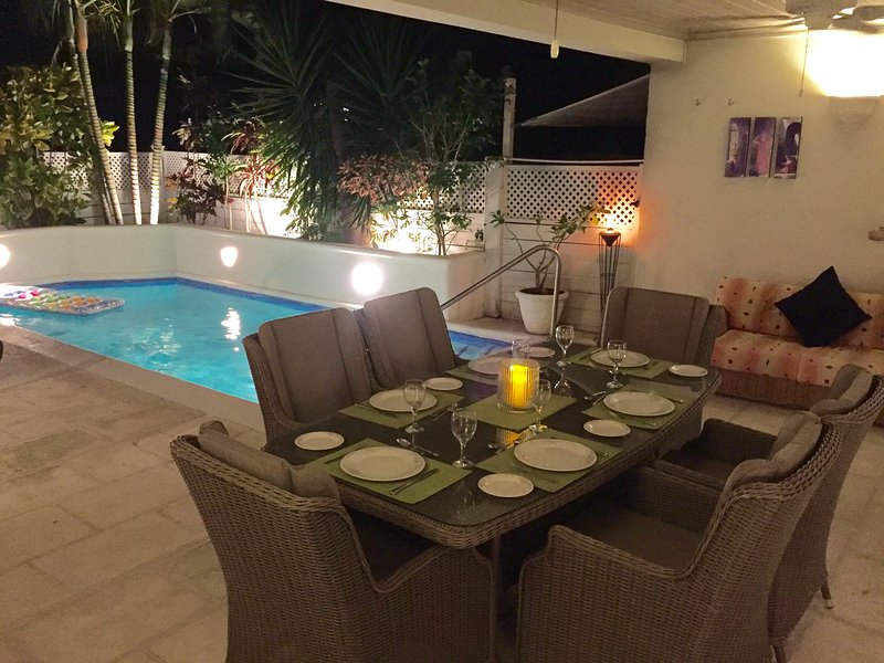 Outside covered dining area