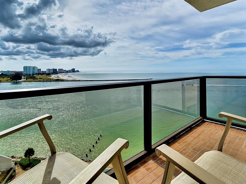 Come enjoy the view from this balcony