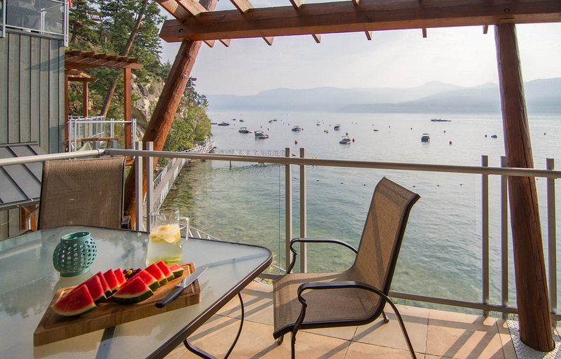 Incredible view of the Okanagan Lake right from your private balcony