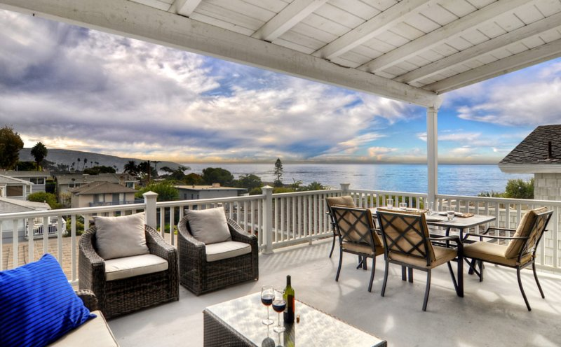 Enjoy beautiful ocean views from the expansive deck.
