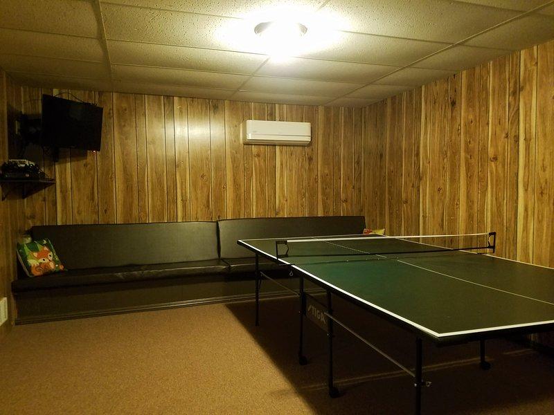 Ping pong, salon des sièges.