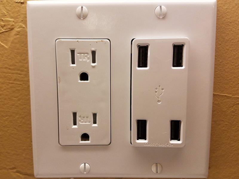Vous trouverez les prises USB partout dans le chalet Red Fox. Rester connecté!