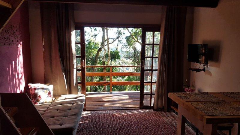 Zimmer mit Deck, mit herrlichem Blick auf die Natur