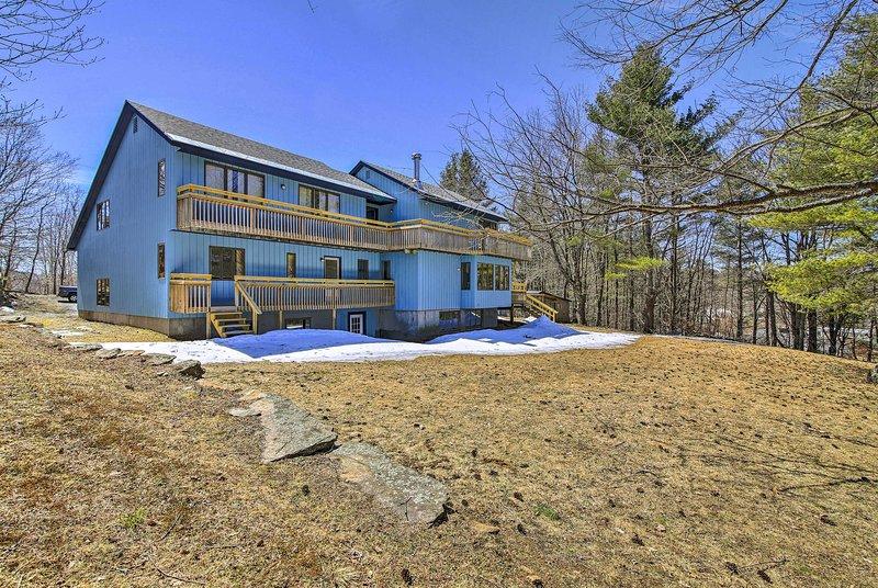 A zona rural Vermont espera nesta casa brilhante aluguer de férias!
