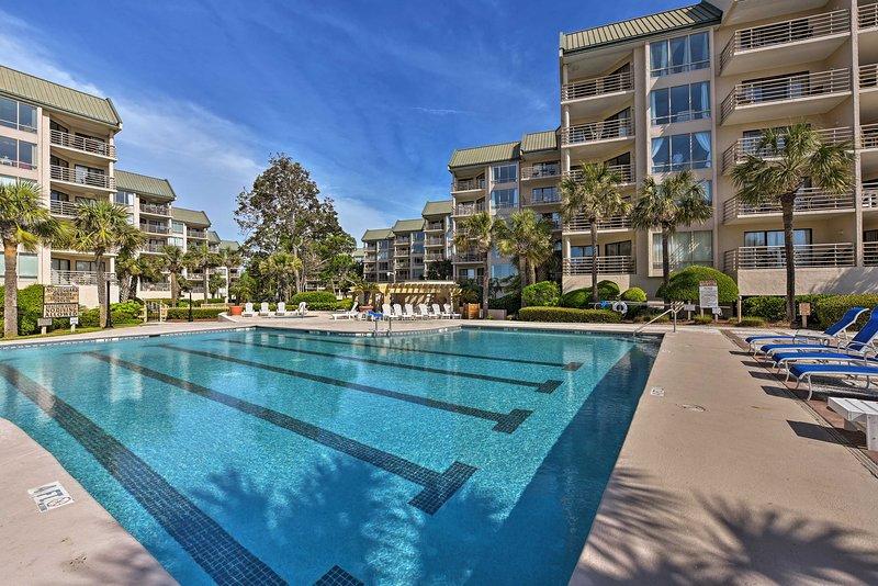 Enjoy luxurious amenities at this oceanfront Hilton Head vacation rental villa!