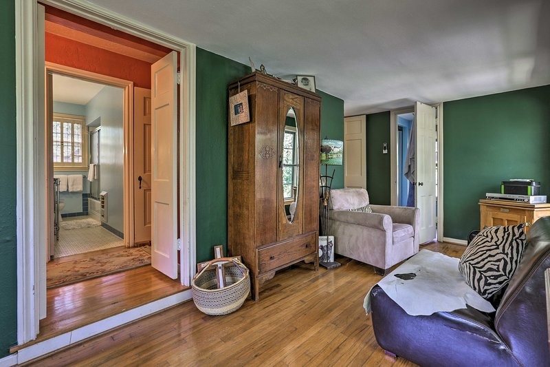 Ce « porche intérieur » est à la fois élégant et confortable.