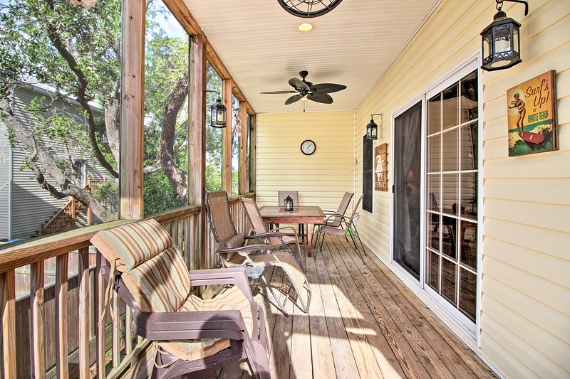 This north end vacation rental is an ideal base for your Tybee Island getaway.