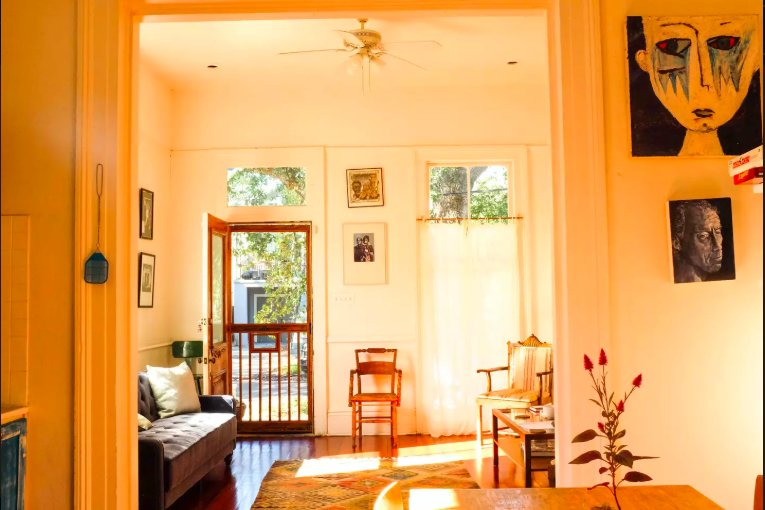 Radiant & Lofty, Front Porch Artists Historic Home