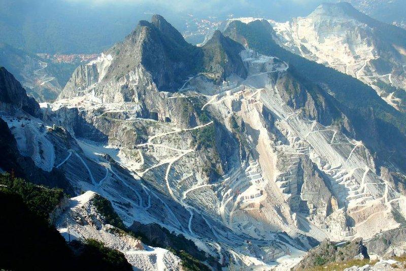 carrières de marbre, Carrara