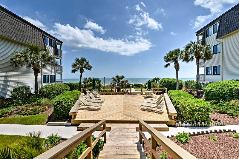 Experience Myrtle Beach when you stay at this coastal vacation rental condo!
