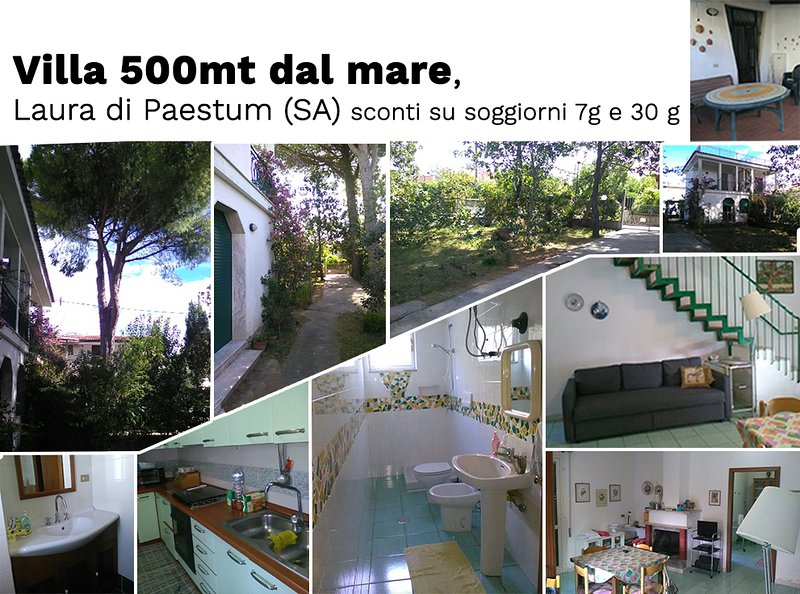 Villa Margherita, a 500m dal mare. Laura di Paestum, holiday rental in Laura
