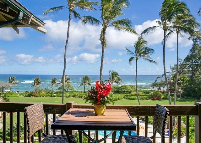 Lanai privado con piscina y Ocean-View