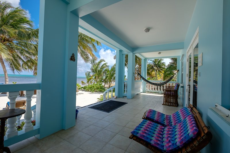 Gorgeous front porch with spectacular views that extends across the entire front of your condo!