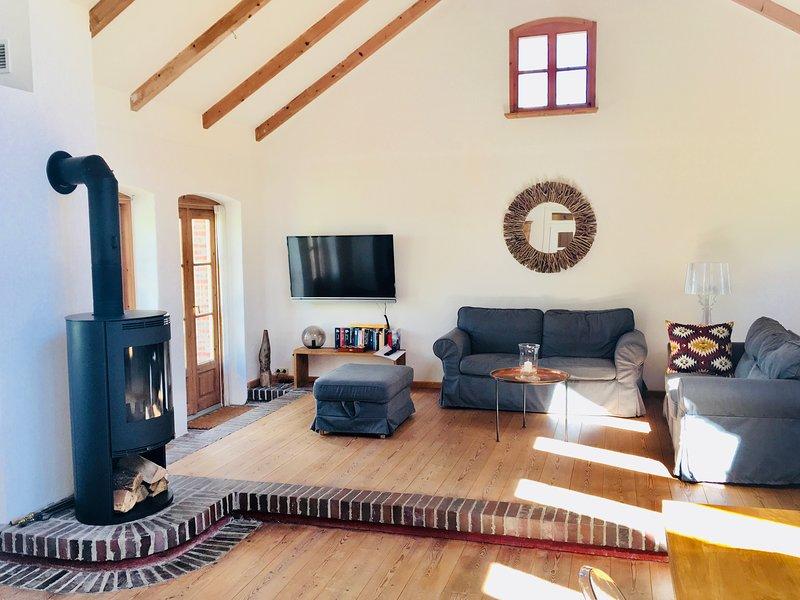 Livigroom with fireplace