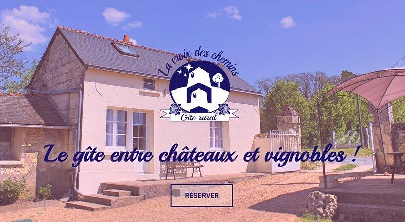 Gîte à Allonnes (49), proche Saumur - 4 à 6 couchages + lit bébé, holiday rental in Allonnes
