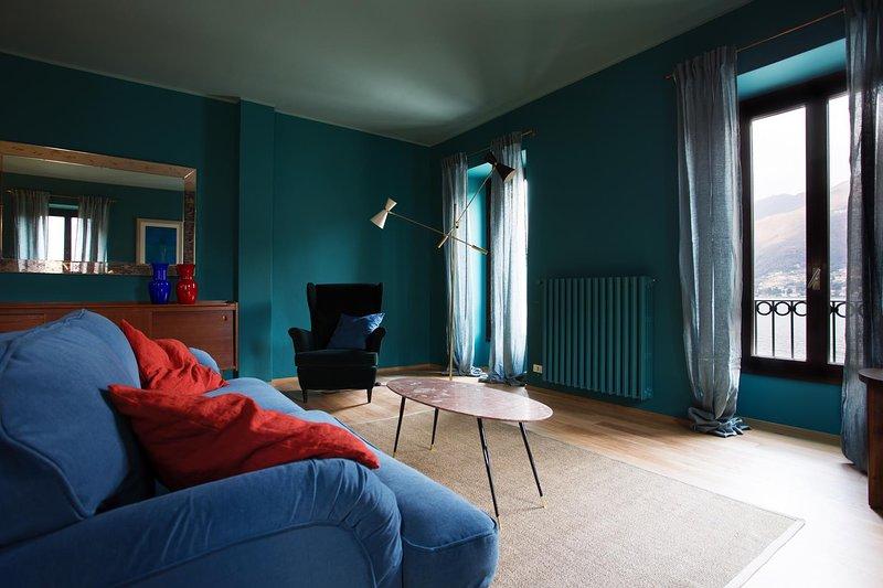 Domus Plinii 1792 Suites - Suite secondo piano con vista sul Lago e giardino, holiday rental in Palanzo