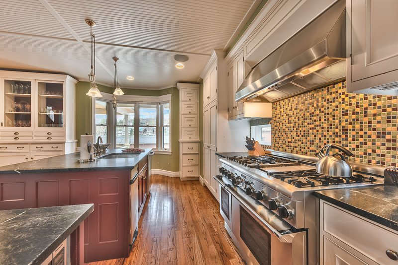 Fully Equipped Large Gourmet Kitchen with High-End Appliances