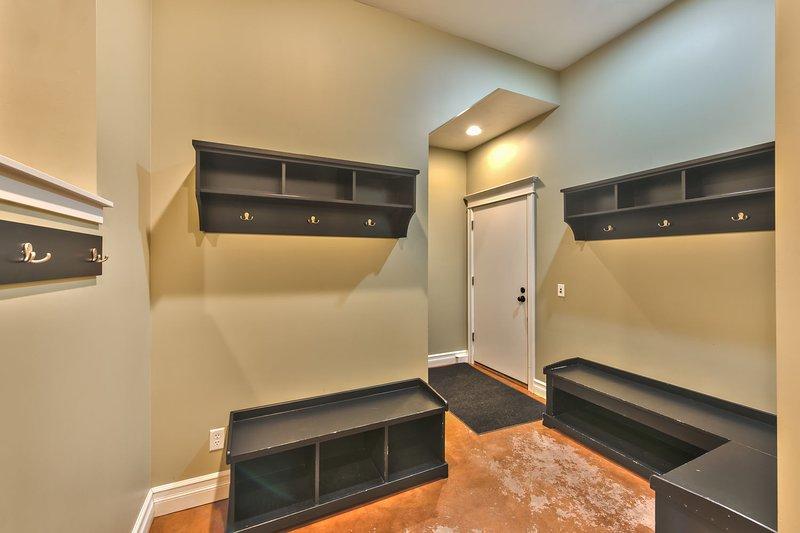 Lower Level Garage Entry with Storage