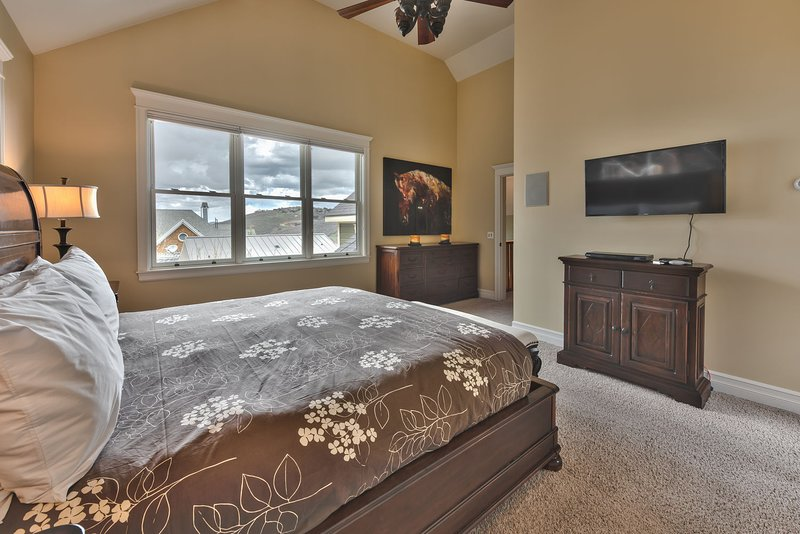Master Bedroom with King Bed, TV and Private Bath