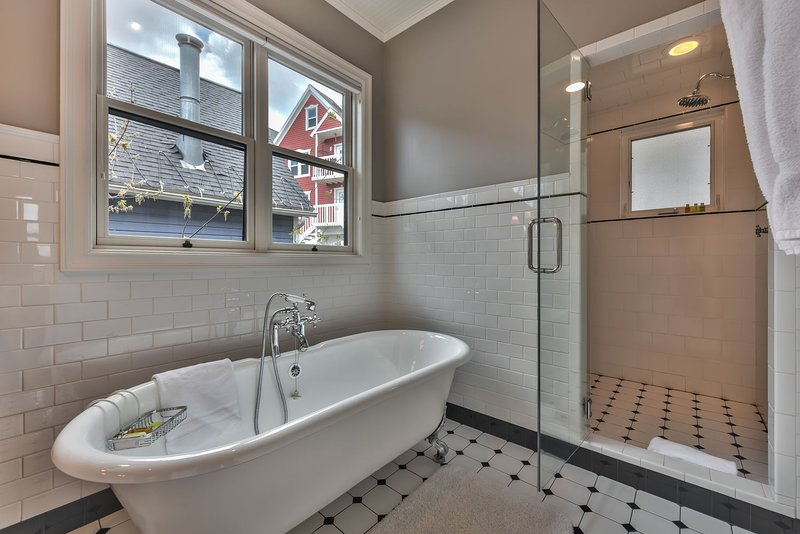 Master Bath Soaking Tub and Steam Shower
