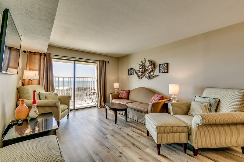 Windy Shores II 3 bed 3 bath condo/oceanfront view! pool , prime location, vacation rental in North Myrtle Beach