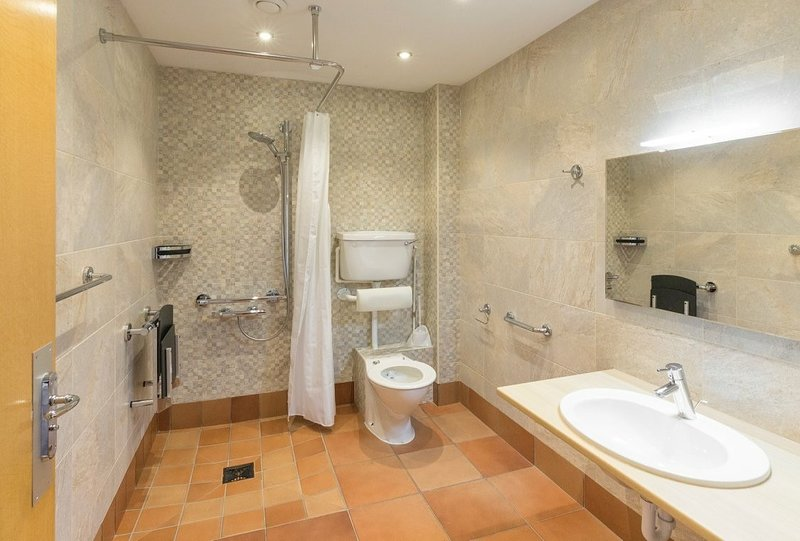Shower room with disabled access