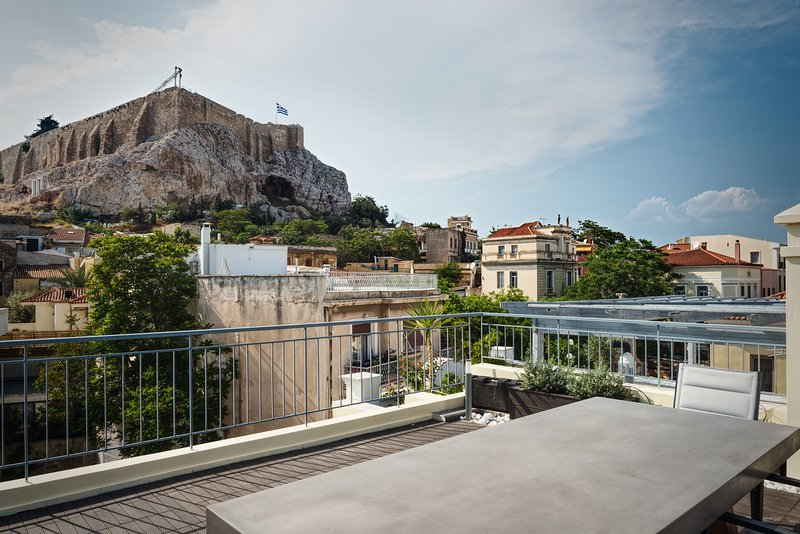 Terraza con vistas a la Acrópolis