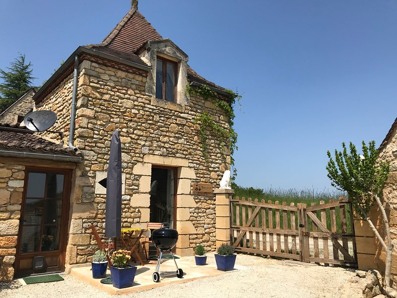 The wonderful Pigeonnier that houses Gîte Tournesol