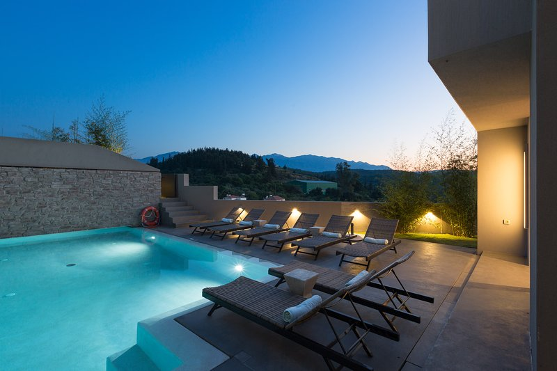 32 sq. m ecological heated (upon request) swimming pool with mountain views