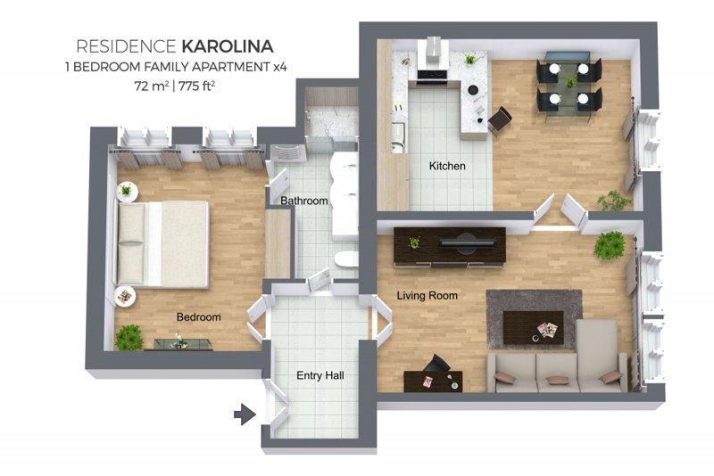 Piano dell'appartamento