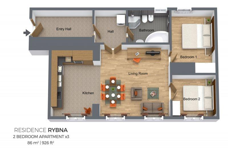 Apartamento de planta
