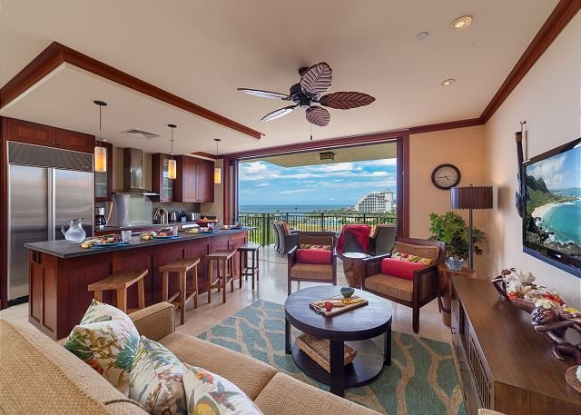 Gorgeous ocean views from inside the villa