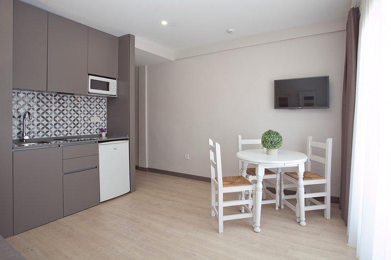 Apartments Ribera - Kitchen Balkon van de flat