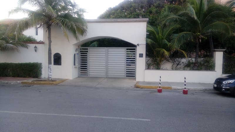 Entrance to the property, free parking.