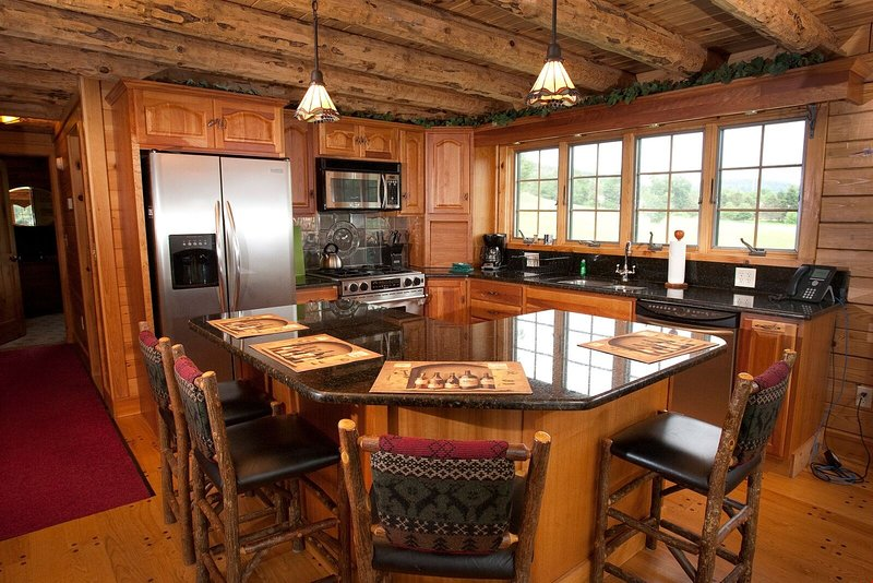 Feel right at home in our chalet-inspired log home!
