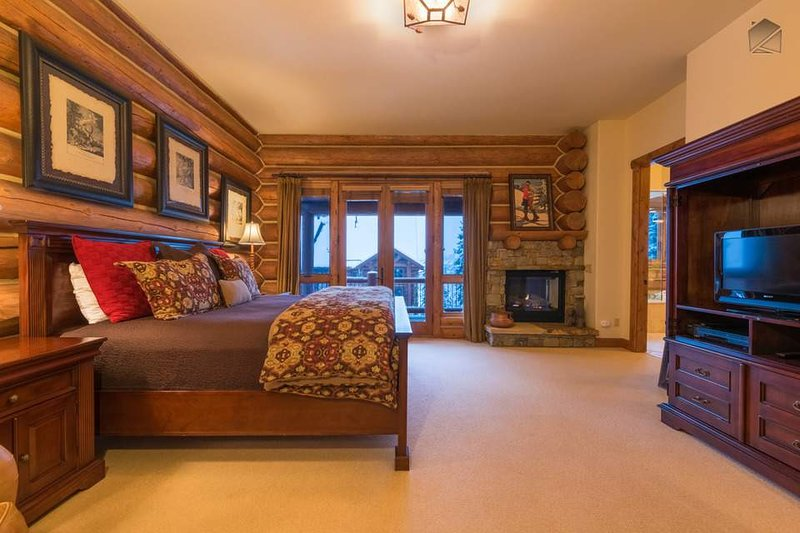 Fall asleep to the glow of your own fireplace in the Master Bedroom.