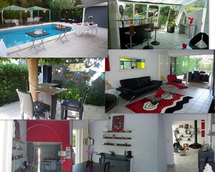 Villa d'architecte avec piscine.