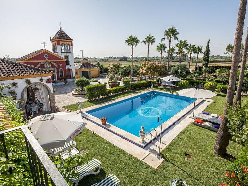 Amazing villa with swimming-pool, holiday rental in Los Palacios y Villafranca