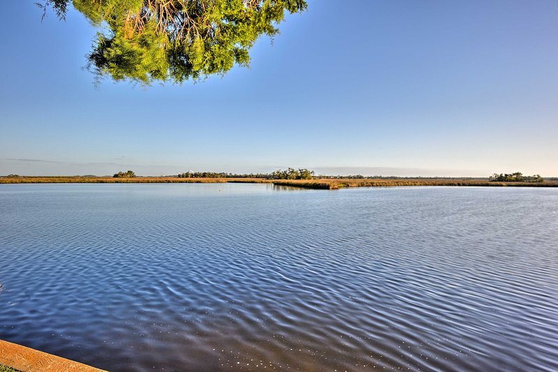 The home is situated on a protected estuary of the Gulf of Mexico.