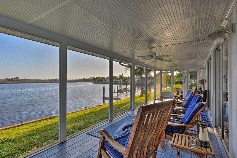 Waterfront views await at this 3-bedroom Crystal River vacation rental home!