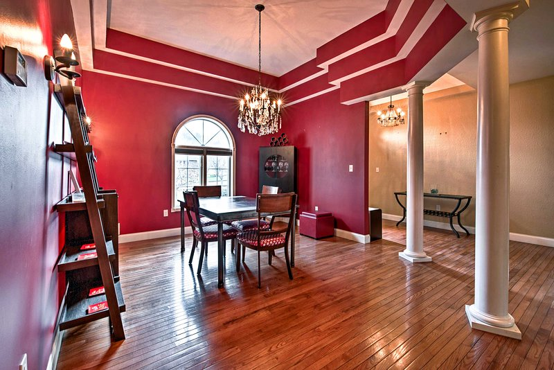 Built in 2011, this house boasts tray ceilings and hardwood floors throughout.