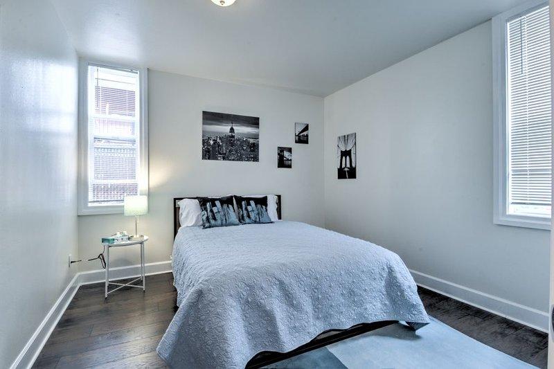 Bedroom: Comfy bed with ergonomic memory foam mattress