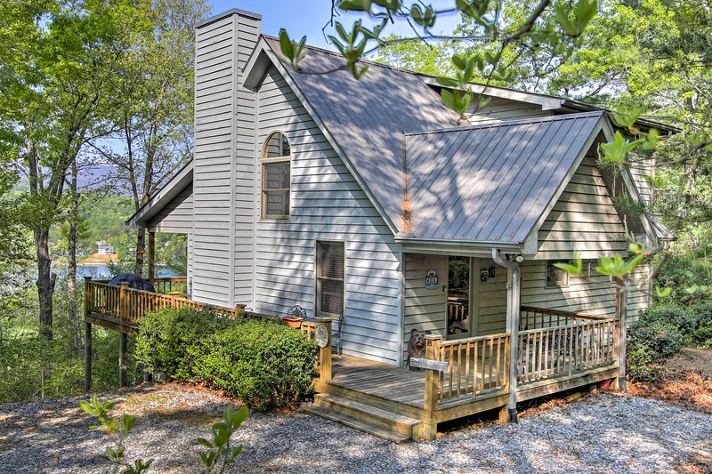 Escape to Hiawassee at this 3-bedroom, 3-bath vacation rental cabin.