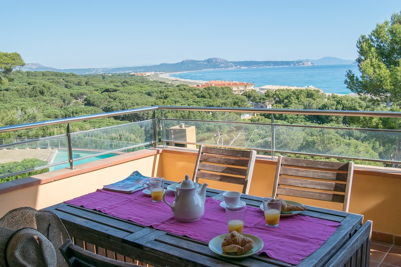 apartamento con espectaculares vistas al mar, terraza y ascensor a la playa-SA PUNTA COSTA BRAVA