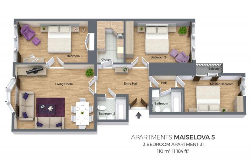Appartement Plan d'étage