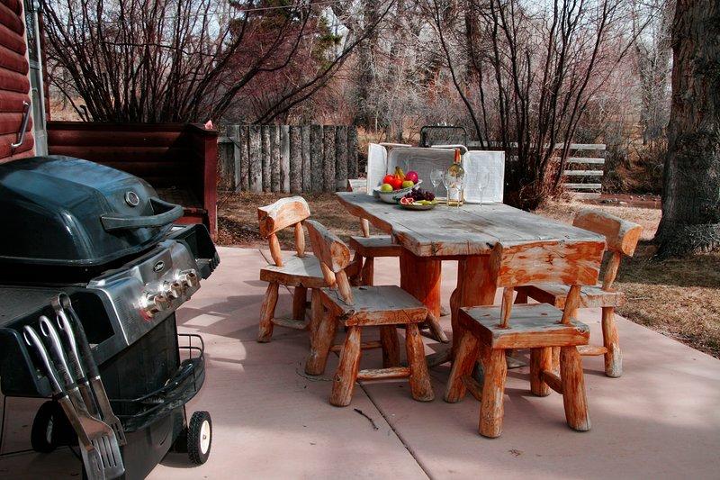 Sitzplätze und On-Premise-Grill