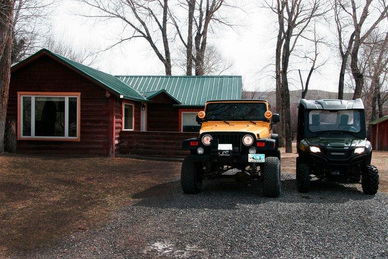 Log Cabin auf Horse Creek Große kostenlosen Parkplatz